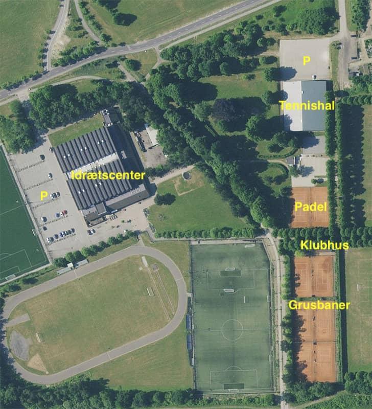 Oversigt over Vallensbæk Tennis og Padel anlæg