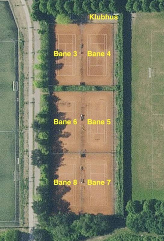 Vallensbæk Tennisklub grusbaner